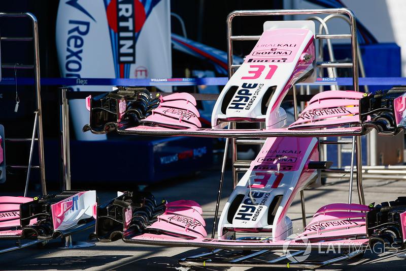 Передние крылья Force India