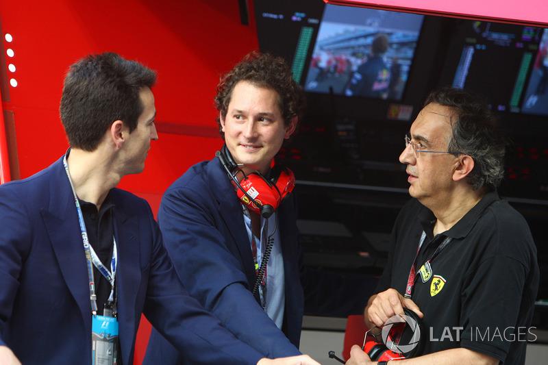 John Elkann, voorzitter van FIAT, met Sergio Marchionne