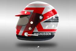 Kevin Magnussen 1970's helmet concept