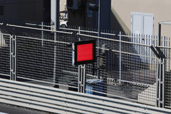 A red lights signals a stoppage
