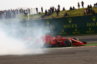 Max Verstappen, Red Bull Racing RB14 and Sebastian Vettel, Ferrari SF71H clash