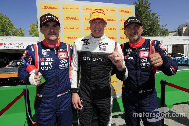 Top 3 qualifiche: Pole position per Gianni Morbidelli, Team Mulsanne Alfa Romeo Giulietta TCR, Norbert Michelisz, BRC Racing Team Hyundai i30 N TCR, Gabriele Tarquini, BRC Racing Team Hyundai i30 N TCR
