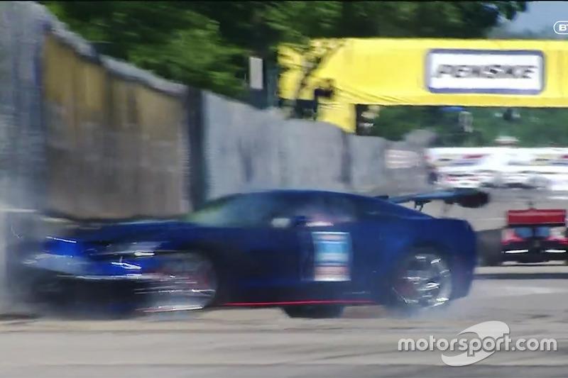 Corvette pace car crash