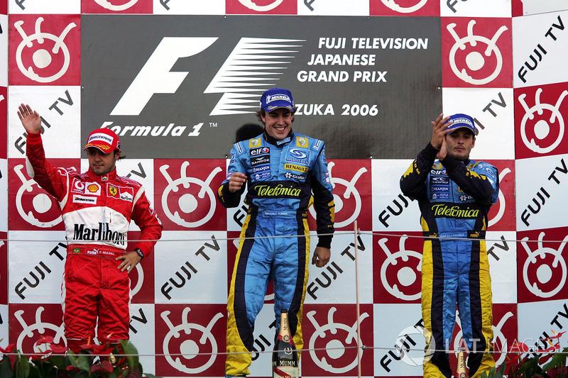 2006: 1. Фернандо Алонсо, 2. Фелипе Масса, 3. Джанкарло Физикелла
