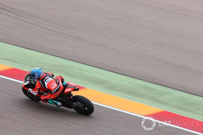 Marco Melandri, quatrième, Aruba.it Racing-Ducati SBK Team