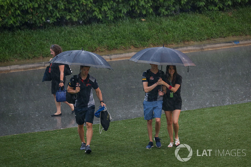 Daniil Kvyat, Scuderia Toro Rosso and girlfriend Kelly Piquet