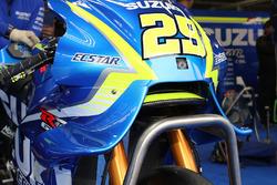 Andrea Iannone, Team Suzuki MotoGP fairing detail