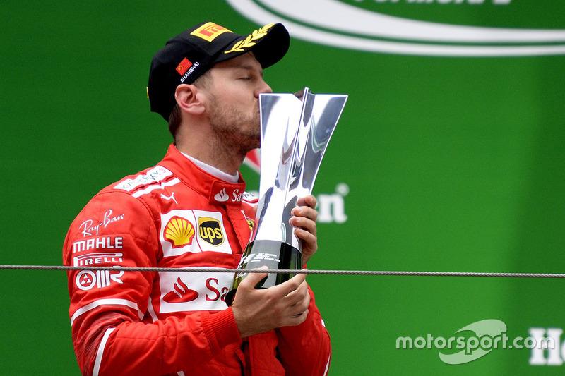 5. Sebastian Vettel: 88 podios (48,62%)