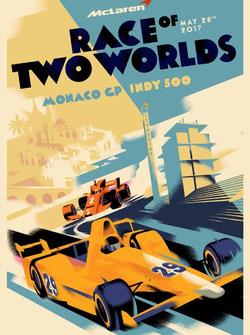 Постер McLaren перед Гран При Монако и Indy 500