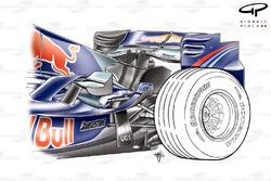 Red Bull RB3 2007 rear-end overview