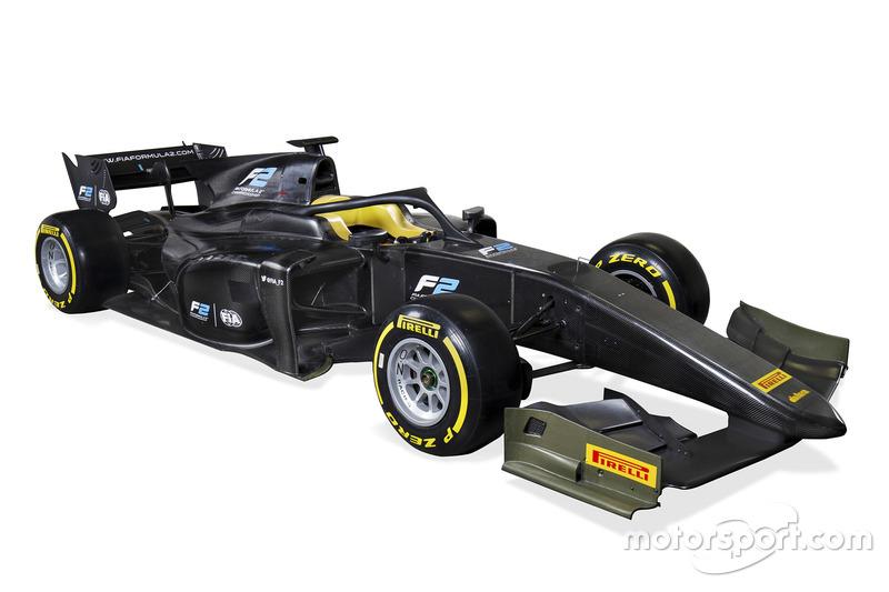 El coche de la FIA Fórmula 2 2018 con Halo