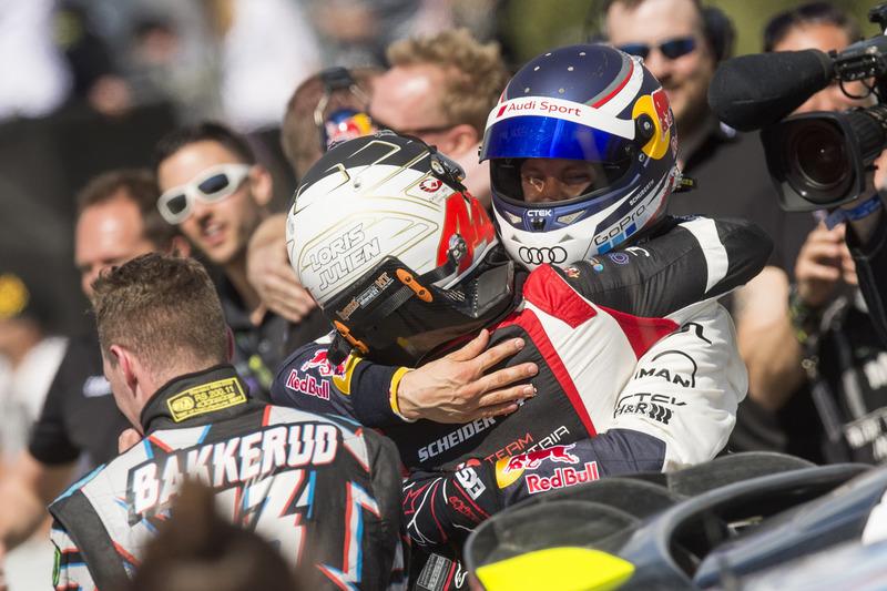 Mattias Ekström, EKS, Audi S1 EKS RX Quattro celebrate