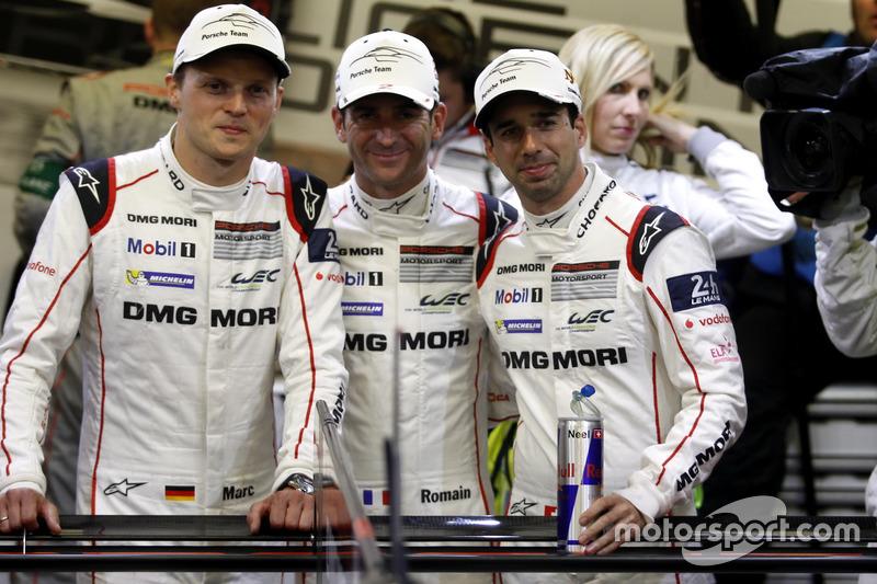Pole position para #1 Porsche Team Porsche 919 Hybrid: Timo Bernhard, Mark Webber, Brendon Hartley