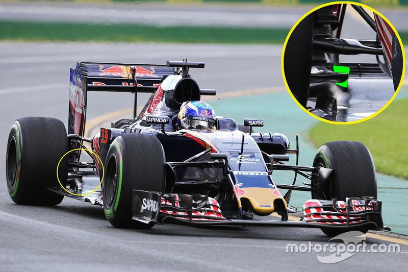 Задняя деталь на машине Макса Ферстаппена, Scuderia Toro Rosso STR11
