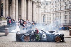 Top Gear-opnames in Londen met Ken Block