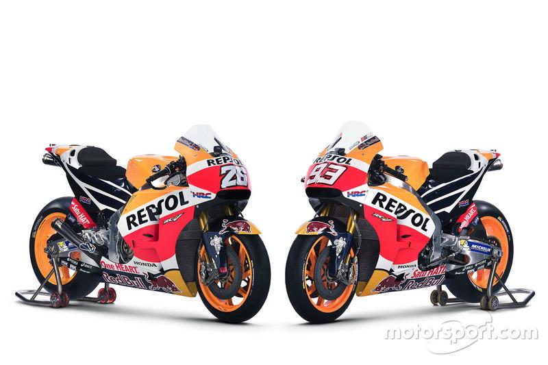 Honda RC213V 2016 of Dani Pedrosa, Repsol Honda Team and Marc Marquez, Repsol Honda Team