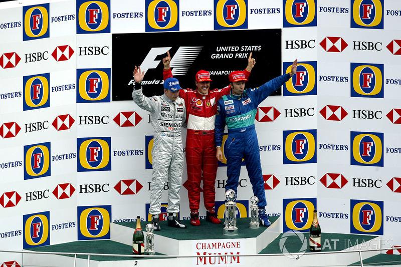 2003 : 1. Michael Schumacher, 2. Kimi Räikkönen, 3. Heinz-Harald Frentzen