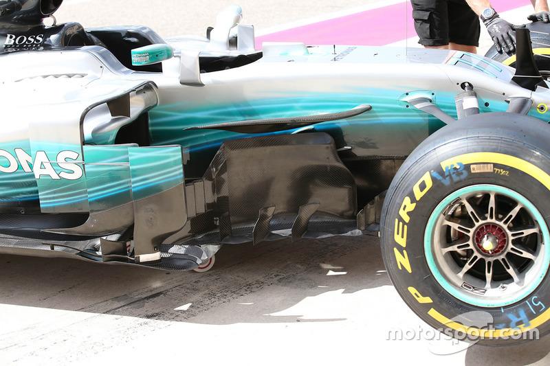 Mercedes AMG F1 barge board