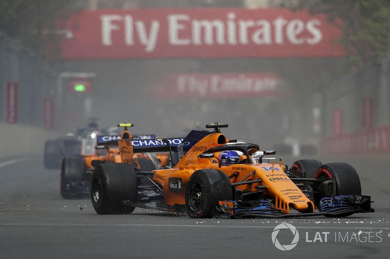 GP Azerbaijan - Insiden lap pertama