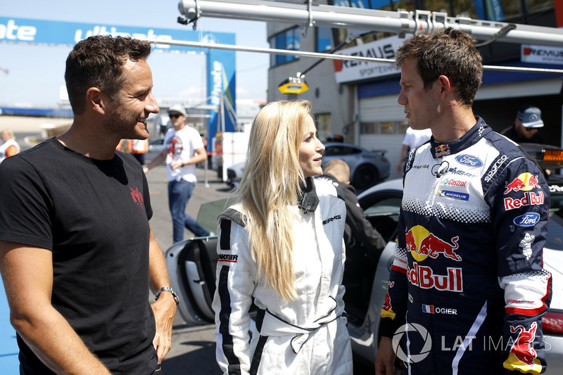 Sébastien Ogier pilota Mercedes-AMG C63 DTM con su mujer Andrea Kaiser y Timo Scheider