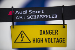 Audi Sport 'Danger - High Voltage' sign