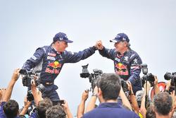 Car winners Carlos Sainz, Lucas Cruz, Peugeot Sport