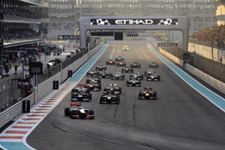 Lewis Hamilton, McLaren MP4-27 leads