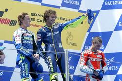 Podium : Sete Gibernau, Honda, Valentino Rossi, Yamaha Factory Racing, Marco Melandri, Yamaha