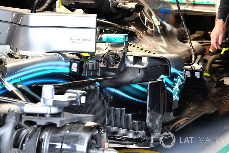 Bargeboards del Mercedes-AMG F1 W09