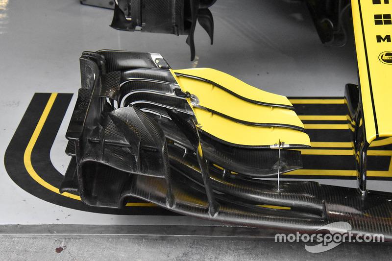 L'aileron avant de Nico Hulkenberg, Renault R.S. 18