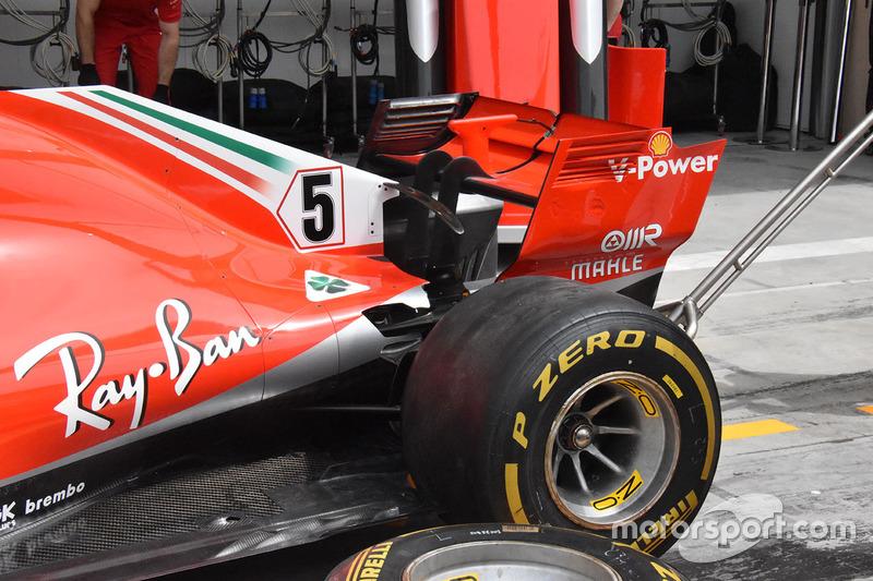Ferrari SF71H arka bölüm detay