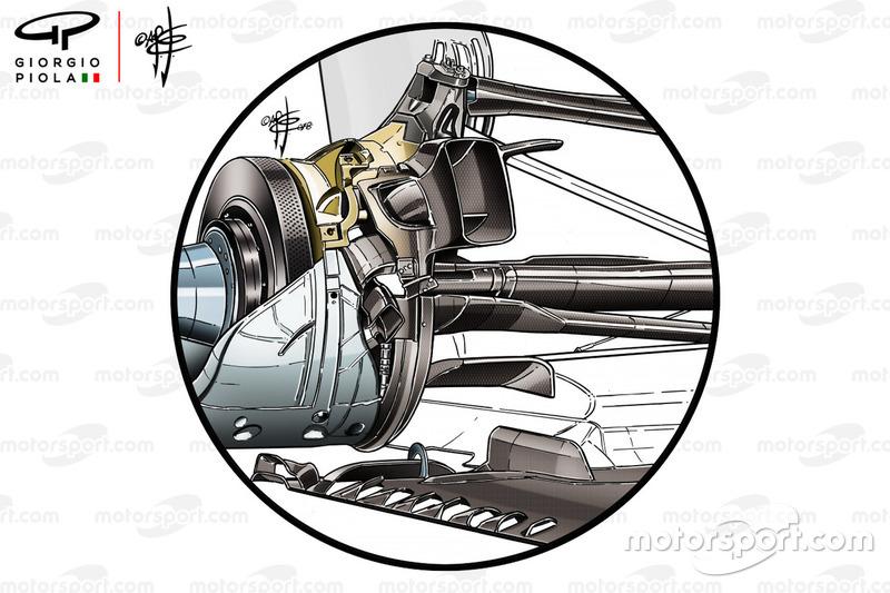 Mercedes AMG F1 W09, sospensione posteriore