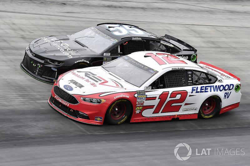 Ryan Blaney, Team Penske, Ford Fusion REV and Reed Sorenson, Premium Motorsports, Chevrolet Camaro