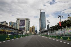 Blick auf die Zielgerade in Baku