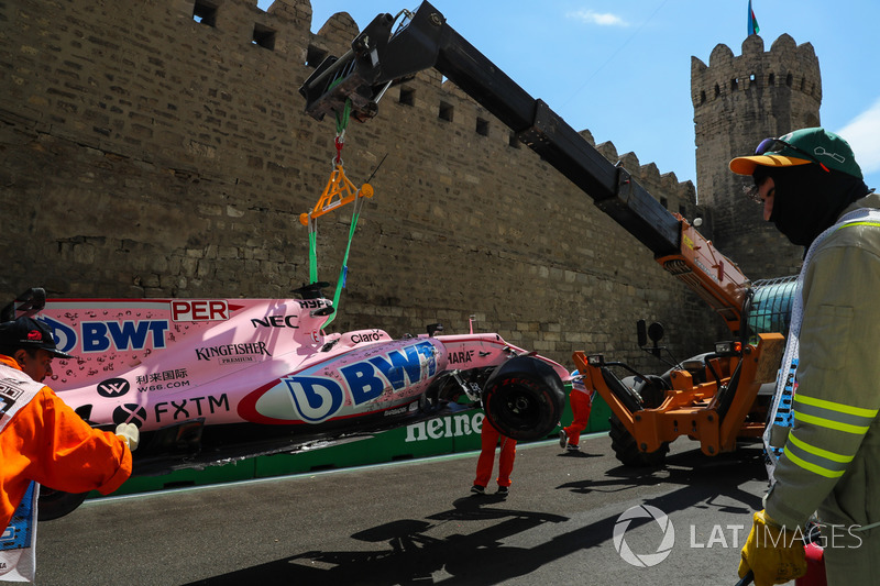 Le crash de Sergio Perez, Sahara Force India VJM10
