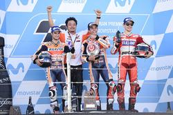 Podium: Race winner Marc Marquez, Repsol Honda Team, second place Dani Pedrosa, Repsol Honda Team, t