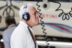 Lawrence Stroll in the Williams garage