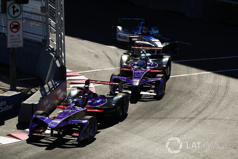 Jose Maria Lopez, DS Virgin Racing, y Sam Bird, DS Virgin Racing, Robin Frijns, Amlin Andretti Formula E Team