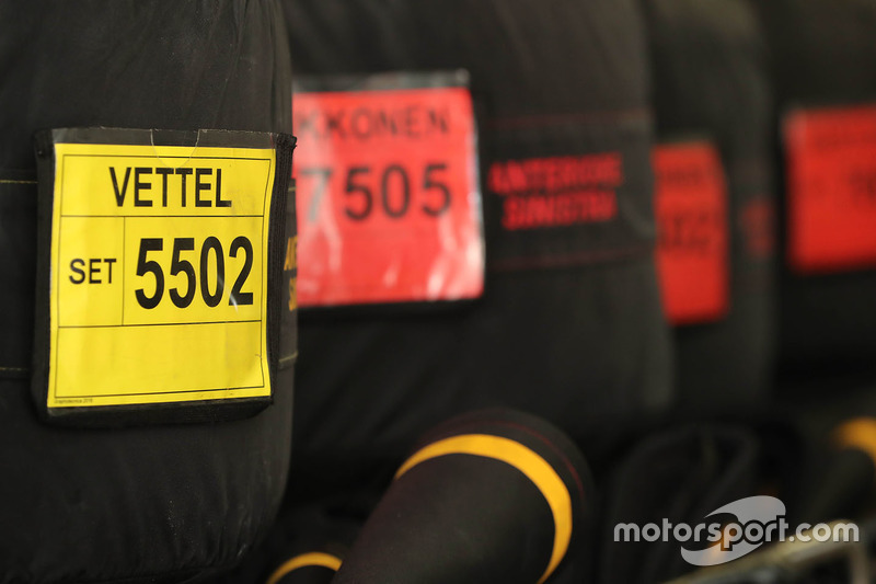 The Pirelli tyres of Sebastian Vettel, Ferrari