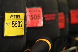 Pirelli-Reifen von Sebastian Vettel, Ferrari