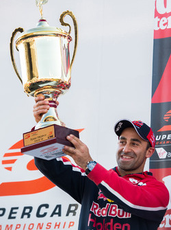 Podium: David Cauchi, Triple Eight Race Engineering Holden with the team trophy