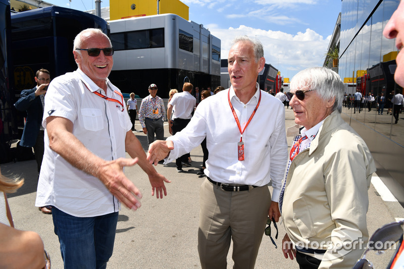 Dietrich Mateschitz, CEO and Founder of Red Bull and Bernie Ecclestone