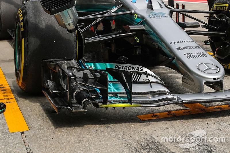 Aileron avant de la Mercedes F1 W08