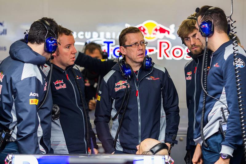 Ingenieure von Scuderia Toro Rosso