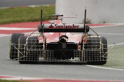 Kimi Raikkonen, Ferrari SF70H, carries sensor equipment
