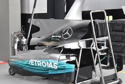 Mercedes AMG F1 W08: Motorhaube und Abdeckung der Seitenkästen