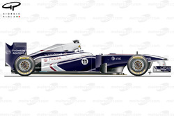 WIlliams FW33 side view, launch car