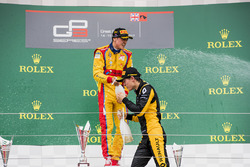 Podium: race winner Giuliano Alesi, Trident, second place Jack Aitken, ART Grand Prix