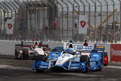 Simon Pagenaud, Team Penske Chevrolet, Marco Andretti, Andretti Autosport Honda y Sébastien Bourdais, Dale Coyne Racing Honda