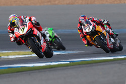 Chaz Davies, Ducati Team; Stefan Bradl, Honda World Superbike Team